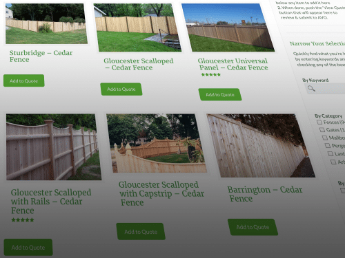 New & Improved Online Catalog Makes Fence Shopping Easy!