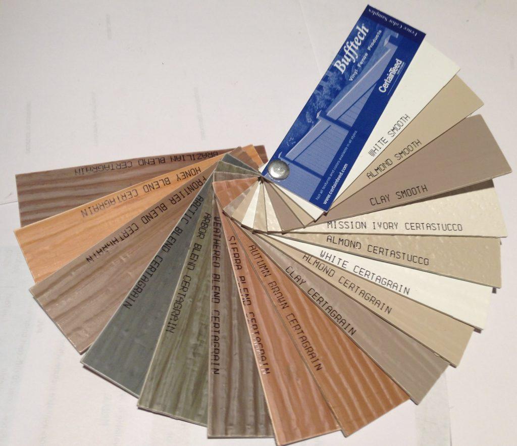 Bufftech Vinyl Fences Color Blends